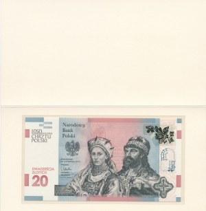 20 złotych 2015, 1050 Rocznica Chrztu Polski, AB0002748, niski numer