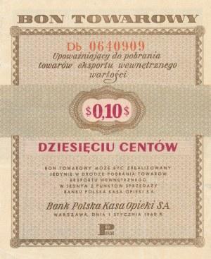 Pewex, 10 centów 1960 z klauzulą - ser. Db