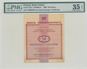 Pewex Bon Towarowy 50 dolarów 1960, ser. Di, z klauzulą