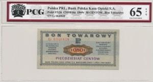KOPIA Pewex Bon Towarowy 50 centów 1969, ser. Ec KOPIA