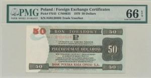 Pewex Bon Towarowy 50 dolarów 1979, ser. HJ