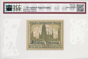 Gdańsk, 50 fenigów 1919, druk zielony, rzadszy