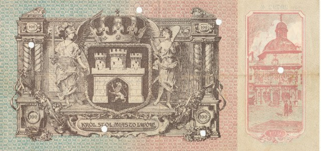 Lwów, Asygnata Kasowa na 100 koron 1915