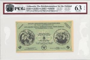 Litwa (Okupacja Niemiecka), Talon na len i wełnę - 3 Punkty 1943