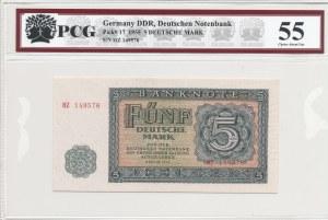 Niemcy (DDR), 5 marek 1955 - ser. HZ149576