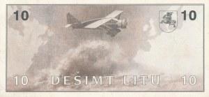 Litwa, S. Darius/S Girenas, 10 litów 1991, seria AB
