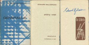 BALCERZAN Edward - Późny wiek [Generacje 1972] [AUTOGRAF]
