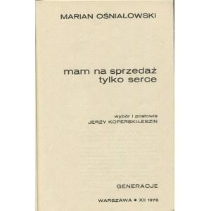 OŚNIAŁOWSKI Marian - Mam na sprzedaż tylko serce [Generacje 1976]