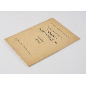 MAKOWSKI Tadeusz - Wystawa prac [katalog 1936]