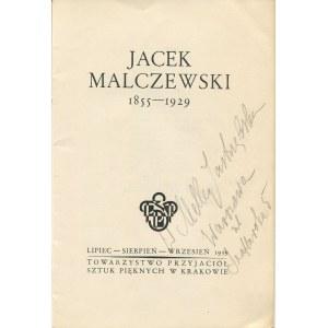 MALCZEWSKI Jacek - Katalog wystawy [1939]