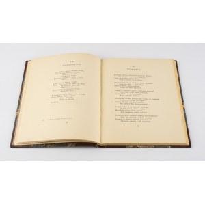 FREDRO Aleksander - Nieznany zbiór poezyj. Z autografu Bibl. Ord. Krasińskich R. 5249 [1929]