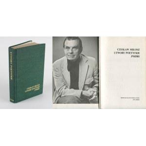 MIŁOSZ Czesław - Utwory poetyckie. Poems [Michigan 1976]