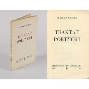 MIŁOSZ Czesław - Traktat poetycki [wydanie pierwsze Paryż 1957]