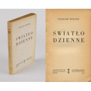 MIŁOSZ Czesław - Światło dzienne [wydanie pierwsze Paryż 1955]