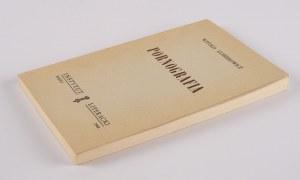 GOMBROWICZ Witold - Pornografia [wydanie pierwsze Paryż 1960]