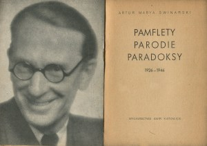 SWINARSKI Artur Marya - Pamflety, parodie, paradoksy [AWiR 1946]