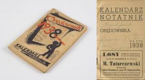 Kalendarz Notatnik Orędownika na rok 1938