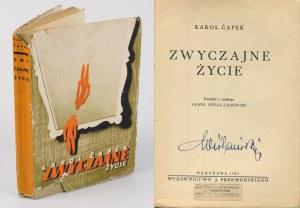 CAPEK Karol - Zwyczajne życie [wydanie pierwsze 1935] [Studio Levitt-Him]