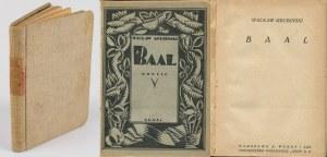 GRUBIŃSKI Wacław - Baal. Nowele [1922] [okł. Tadeusz Gronowski?]