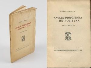 DMOWSKI Roman - Anglja powojenna i jej polityka. Uwagi ogólne [wydanie pierwsze 1926]