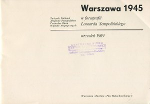 Warszawa 1945 w fotografii Leonarda Sempolińskiego [katalog wystawy 1969]
