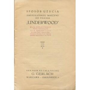 Sposób użycia amerykańskiej maszyny do pisania Underwood [1930]