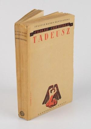KADEN-BANDROWSKI Juliusz - Czarne skrzydła. Tadeusz [1937] [okł. Tadeusz Piotrowski]