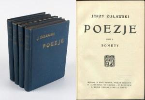 ŻUŁAWSKI Jerzy - Poezje. Tom I-IV [1908]