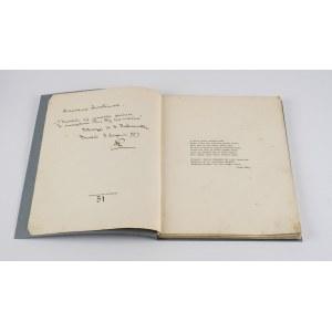 PUSŁOWSKI Franciszek Xawery - Castrum Doloris. Threny. H. K. ROSTWOROWSKI - Pogrzeb wiejski [AUTOGRAF] [1909]