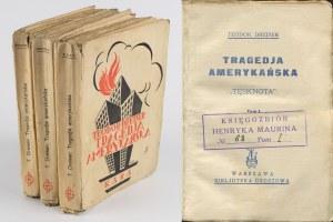 DREISER Teodor - Tragedja amerykańska. Tom I-III [okł. Artur Horowicz]