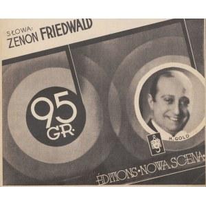 nuty MIŁOŚĆ TRWAŁA KRÓTKO. TANGO. Słowa Zenon Friedwald. Muzyka Henryk Gold