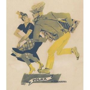(grafika) STRYJEŃSKA Zofia, Polka [Tańce polskie 1927]