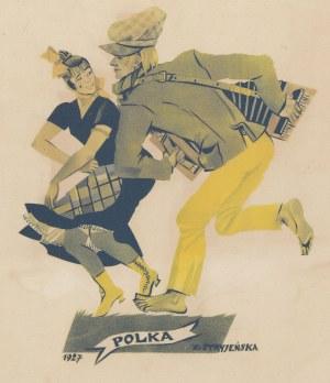 grafika STRYJEŃSKA Zofia - Polka [Tańce polskie 1927]