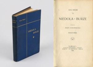 NEGRI Ada - Niedola. Burze [1904] [oprawa wydawnicza]