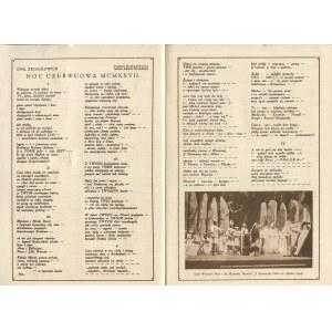 Królowi Duchowi na dniu powrotu. Teatr im. J. Słowackiego, Kraków, czerwiec 1927 r. [il. Zofia Stryjeńska]