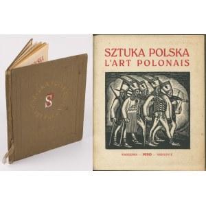 Sztuka polska. L'art polonais. Zarys rozwoju polskiego malarstwa i rzeźby [1920] [okł. Władysław Skoczylas] [oprawa Recmanika]
