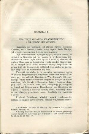GOSTYŃSKI Tadeusz - Franciszek Krasiński polityk złotego wieku [1938]