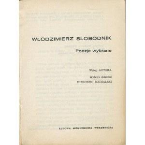 SŁOBODNIK Włodzimierz - Poezje wybrane [wydanie pierwsze 1970] [AUTOGRAF I DEDYKACJA DLA EWY BOREJSZYNY]