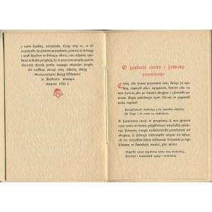 Z ksiąg o cnocie rozdział wybrany O zapłacie cnoty i żywota przystojnego Imć Panu Karolowi Rollemu w miłości ksiąg towarzyszowi przez Bibljofilów Krakowskich przypisany [1926]