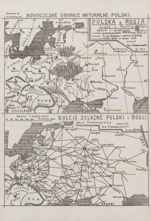 SZCZEPANOWSKI Stanisław - Nowoczesne granice naturalne Polski. Z dwoma mapami [Lwów 1920]