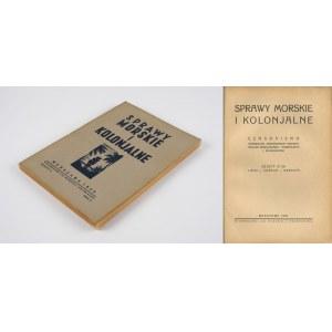 Sprawy morskie i kolonialne. Zeszyt III z 1935 roku