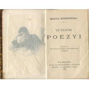 KONOPNICKA Maria - Wybór poezyi [miniatura 1897]