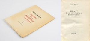 WAŻYK Adam - Poemat dla dorosłych i inne wiersze [wydanie pierwsze 1956]