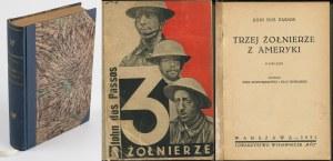 DOS PASSOS John - Trzej żołnierze z Ameryki. Powieść [wydanie pierwsze 1931] [okł. Mieczysław Berman]