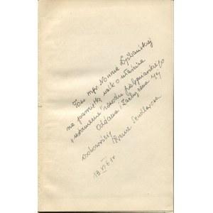 MORTKOWICZ-OLCZAKOWA Hanna - Bunt wspomnień [1961] [AUTOGRAF I DEDYKACJA OD IRENY SENDLEROWEJ]