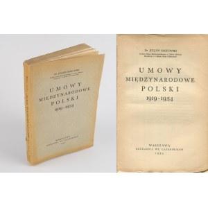 MAKOWSKI Julian - Umowy międzynarodowe Polski 1919-1914