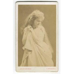 fotografia tekturkowa Helena Modrzejewska w roli Ofelii [1871]
