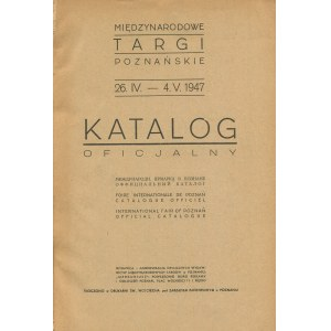 Międzynarodowe Targi Poznańskie 1947. Katalog oficjalny
