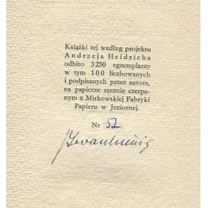 IWASZKIEWICZ Jarosław - Gawęda o książkach i czytelnikach [1959] [AUTOGRAF]