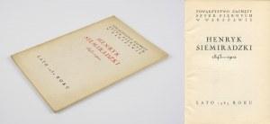 SIEMIRADZKI Henryk - Katalog wystawy [1939]